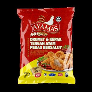 Ayamas Breaded Drummets _ Mid Wings Hot _ Spicy